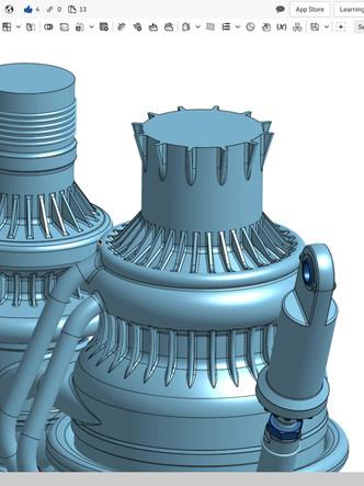 SpaceX Raptor Rocket Engine CAD