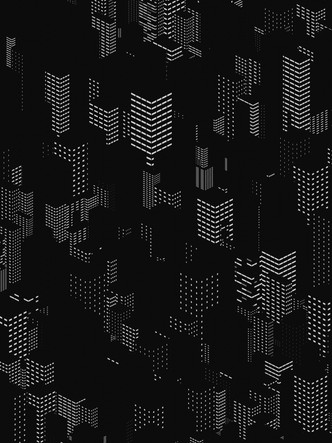 particle city with random window shader