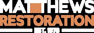 Matthews Restoration Logo White Orange R