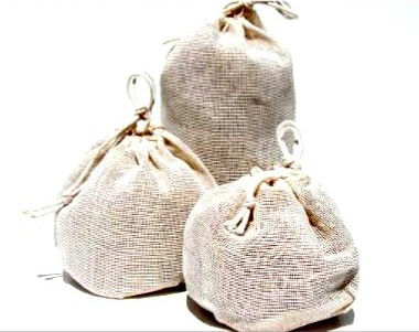 Natural Cotton Bags- LARGE