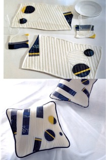 Cushion, Luch Mat and Coster modern