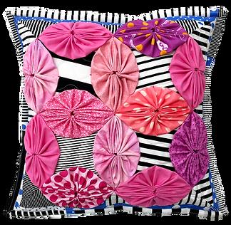 YOYO pillow quilt ヨーヨーキルトDWR ダブルウェディングリン