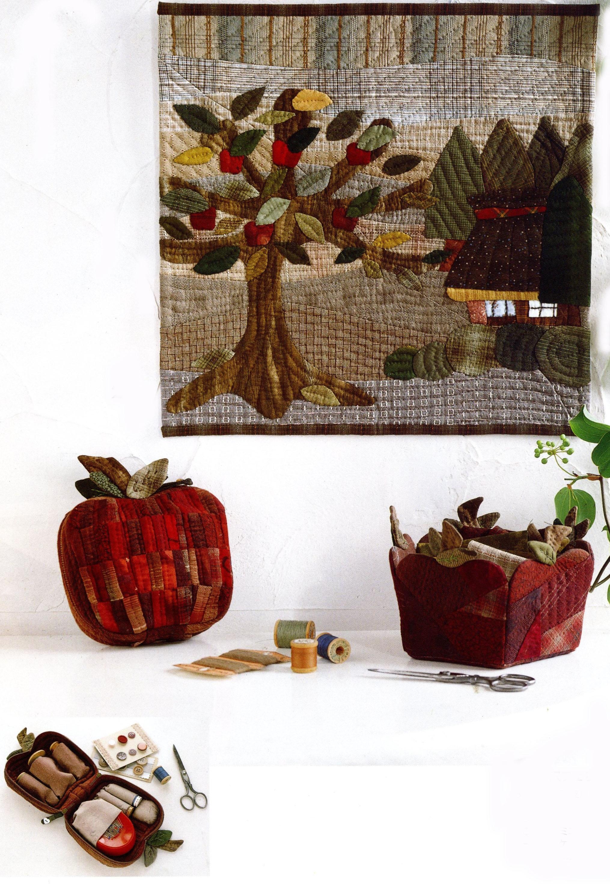 Apple Sewing Case,Basket.Quilt