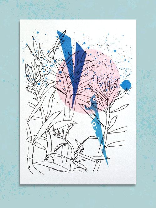 Succulent A5 Embellished Print