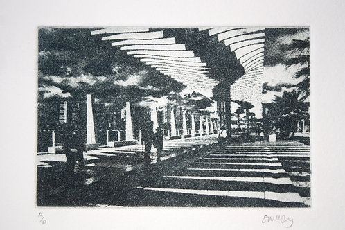 Promenade. Photo etching