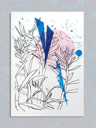 Succulent. A4 Embellished Print