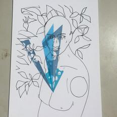 Manquin with shrub