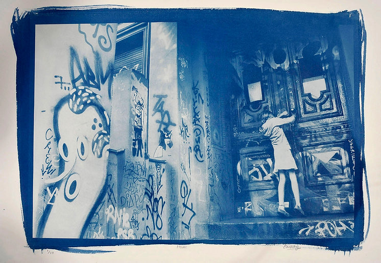 Street life - cyanotypes