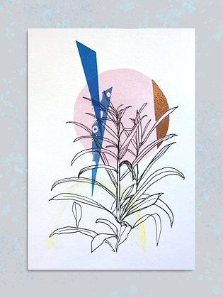 Garden Plants: Embellished Print A4