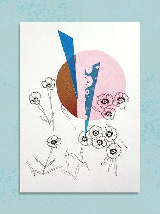 Pinks A5 Embellished Print