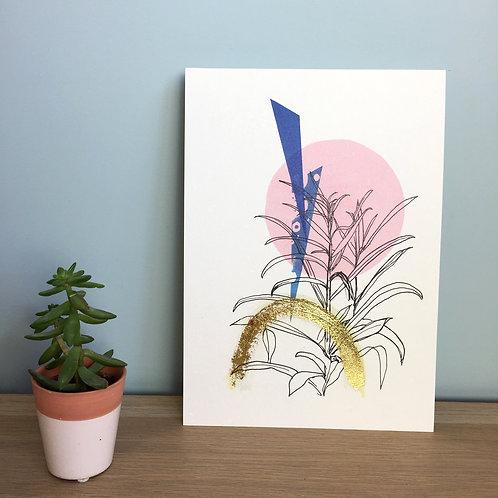Garden Plants A4 Embellished Print