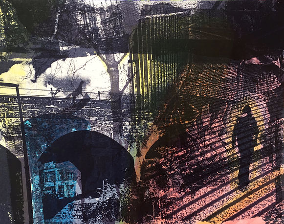 screenprint, urban environment, city