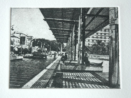 Malaga. Photo etching
