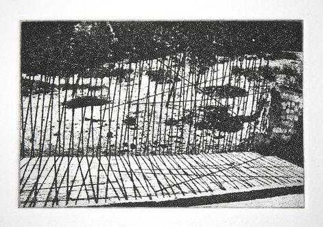 Fence. Photo etching