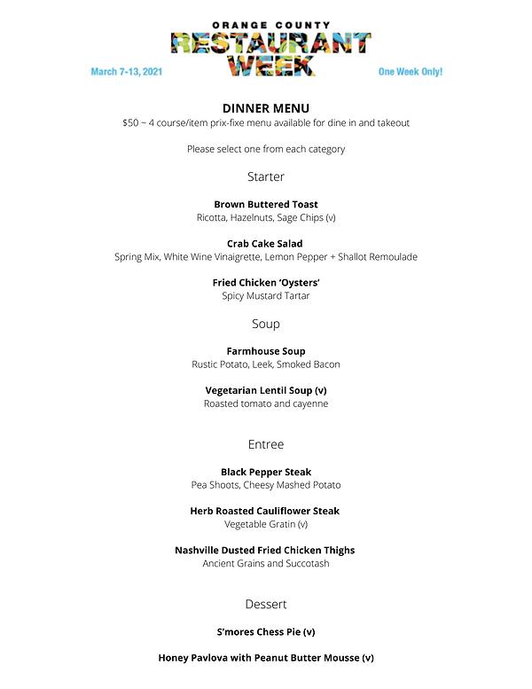 DINNER MENU $50 _ 4 course_item prix-fix