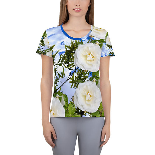 Sky and White Roses T-shirt