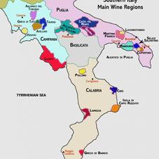 Zuiden (Campanië, Basilicata, Calabrië, Puglia)