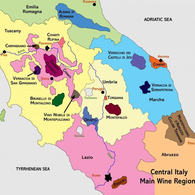 Midden (Marche, Abruzzo, Molise, Umbria & Lazio)