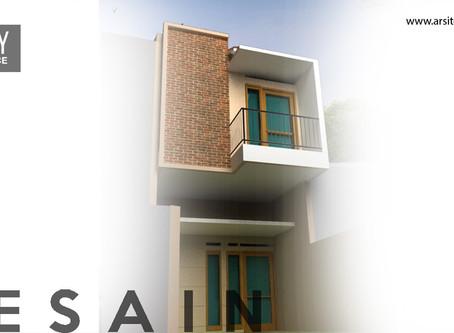 Desain Rumah lebar 4 meter Modern Tropis di lahan Minimalis