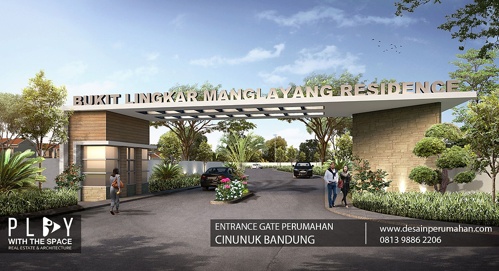 Desain Entrance Gate Bandung
