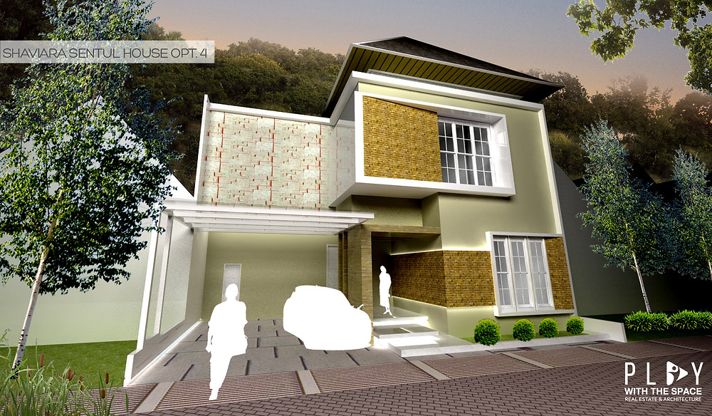 Desain Fasade Rumah Sentul Opsi 4