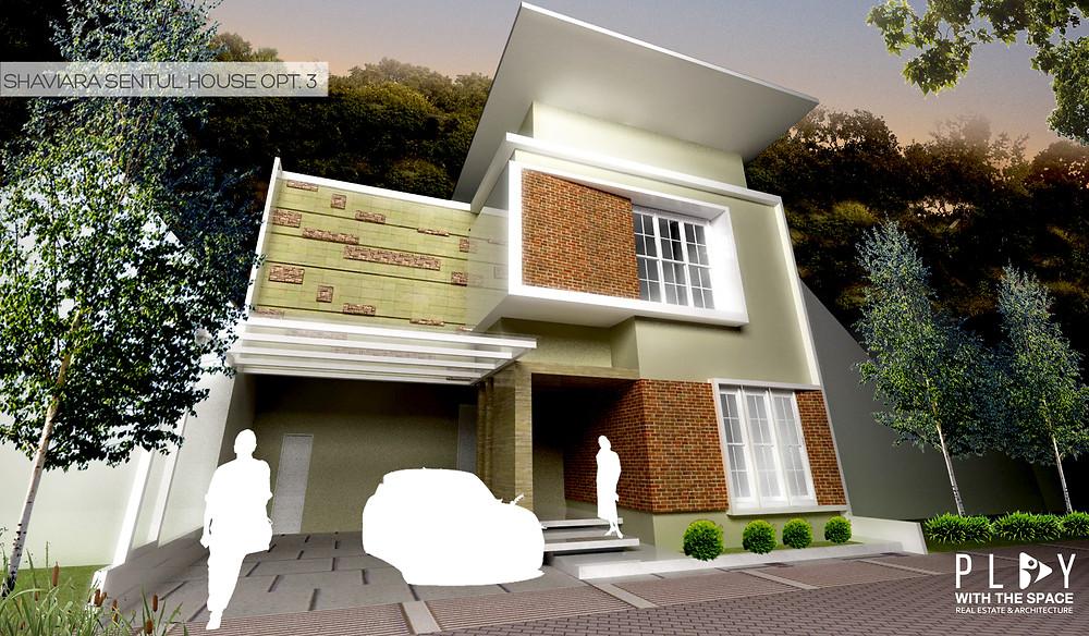 Desain Fasade Rumah Sentul Opsi 3
