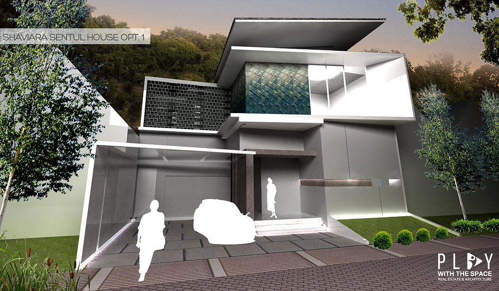 Desain Fasade Rumah Sentul Opsi 1