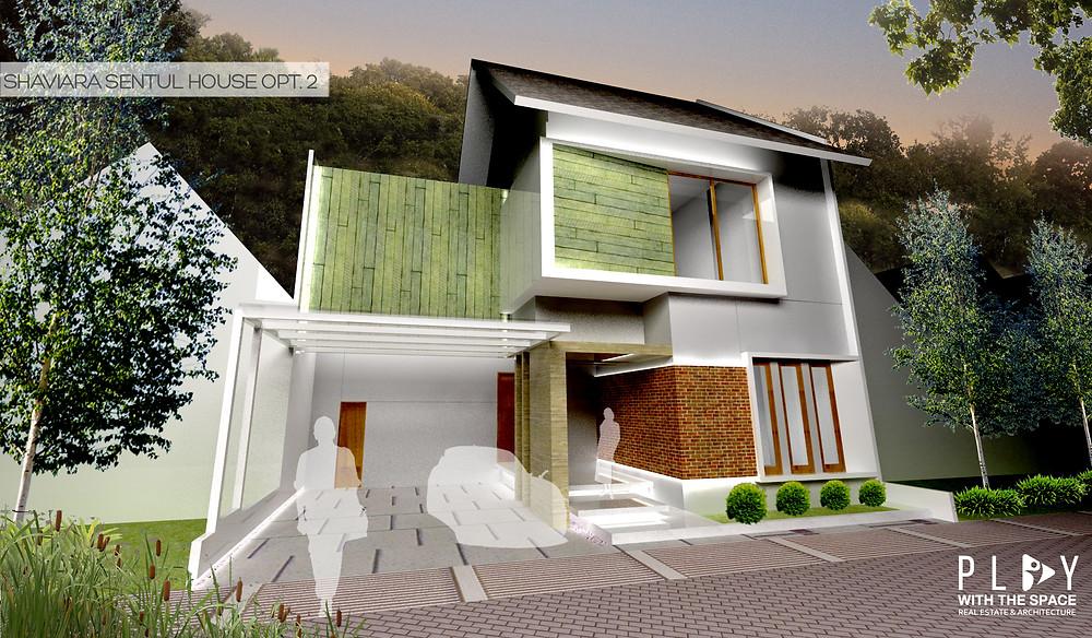Desain Fasade Rumah Sentul Opsi 2