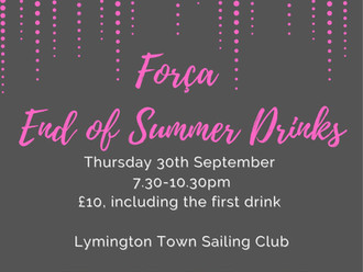 End of summer drinks with força