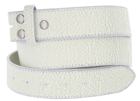 LEATHER - Distressed White