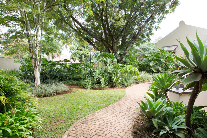 Our beautiful garden where you can relax while visiting your loved ones