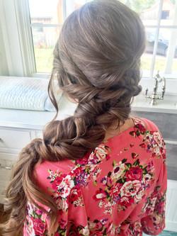 Bridesmaid Hairstyle by Amanda