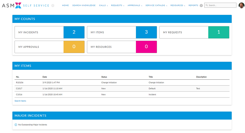The ASM 10 Portal home page