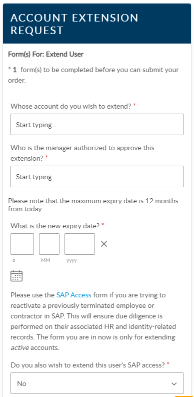 ASM 10 request form on Mobile