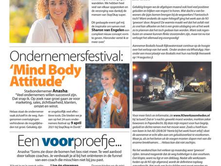 Ondernemersfestival: 'Mind Body Attitude'