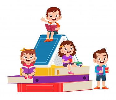 happy-cute-little-kids-boy-and-girl-read