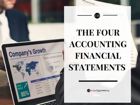 The four basic accounting financial statements
