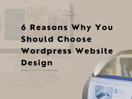 6 Reasons Why You Should Choose WordPress Website Design