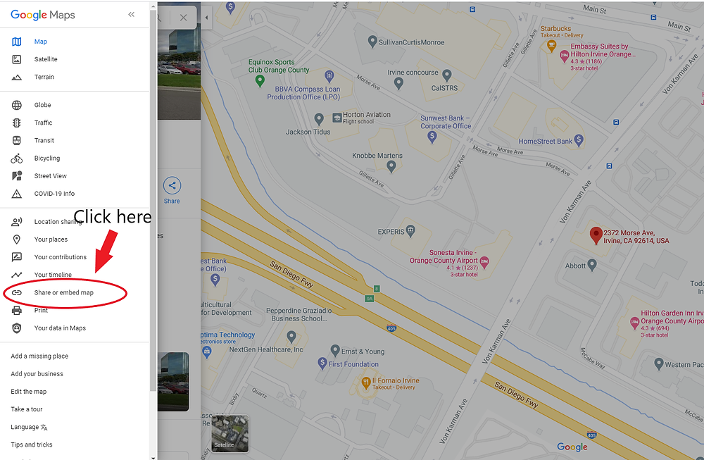 Embed Google map in website by the code HTML