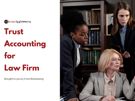 Trust accounting for law firm