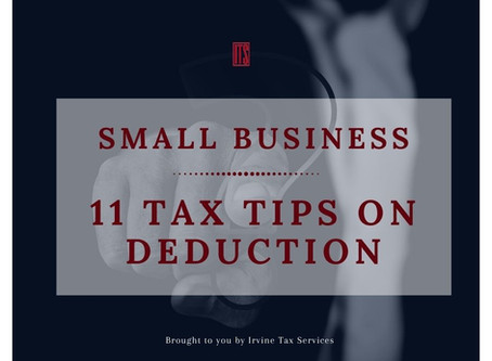 Small Business: 11 Tax Tips on Deduction