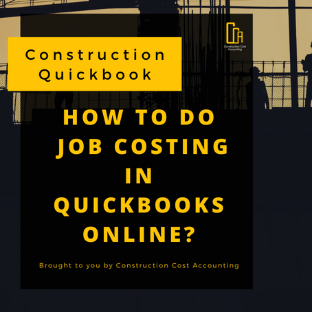 How To Do Job Costing In Quickbooks Online?