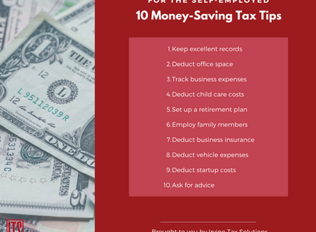 10 Money-Saving Tax Tips for the Self-Employed