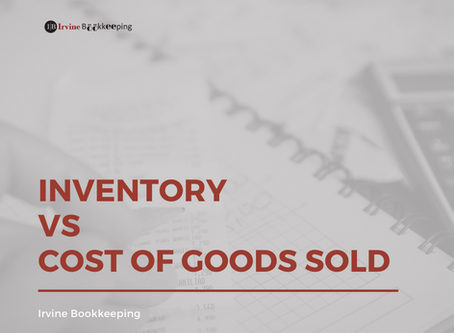 Inventory vs Cost of Goods Sold