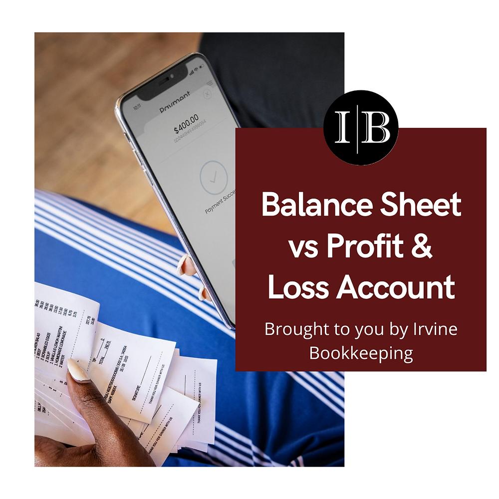 balance sheet and profit loss account