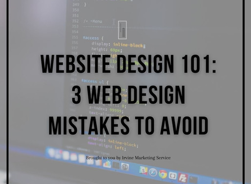 Website Design 101: 3 Web Design Mistakes To Avoid