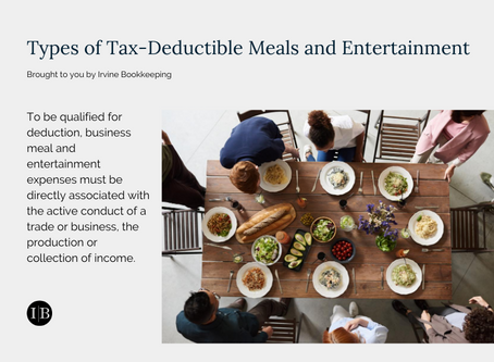 Types of Tax-Deductible Meals and Entertainment
