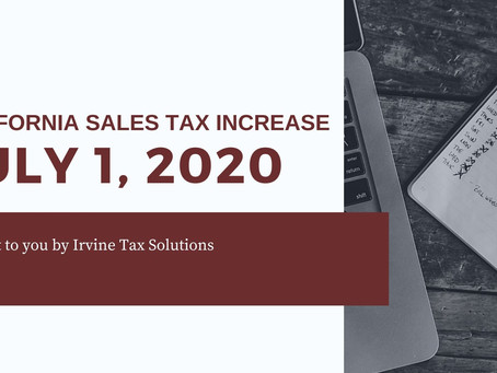 California Sales Tax Increase