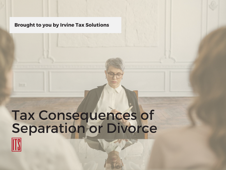 Tax Consequences of Separation or Divorce