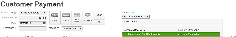 Write off an invoice in Quickbooks step 4